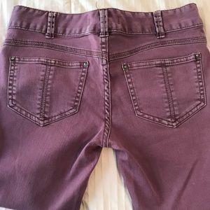 Free People lavender skinny jeans